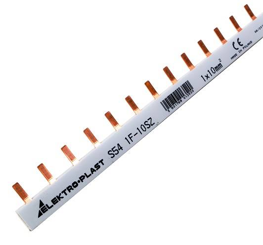 Szyna prądowa 1p 10mm 63A 54 pin 45.214 1F
