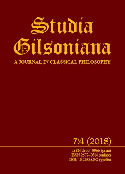 Studia Gilsoniana. A Journal  7:4 2018