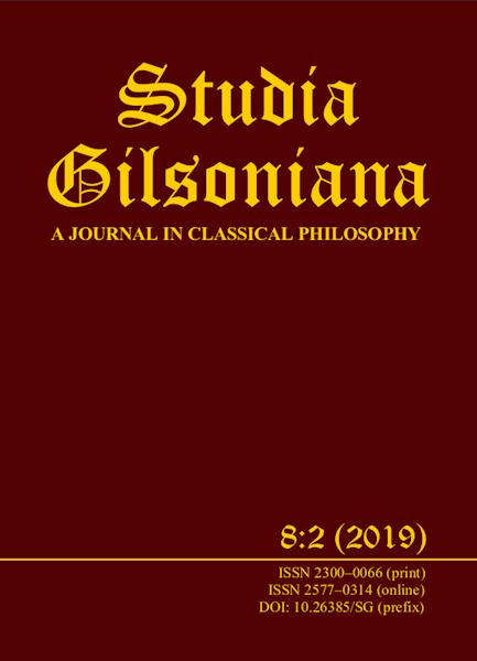 Studia Gilsoniana A Journal 8:2 2019