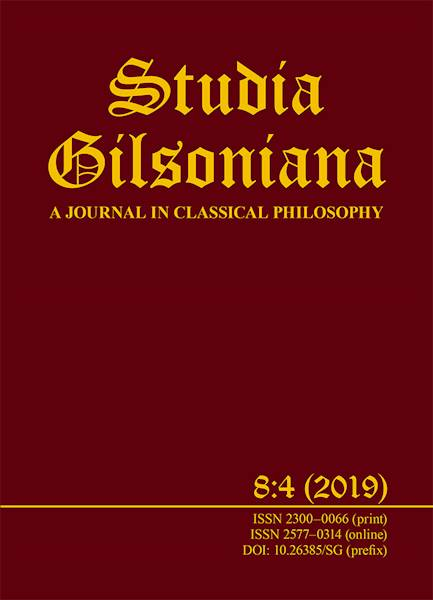 Studia Gilsoniana A Journal 8:4 2019