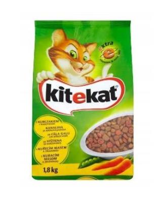 Karma dla kota KITEKAT Kurczak z warzywami 1,8kg