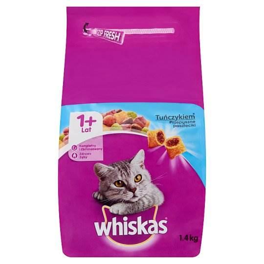 Whiskas Karma dla kota z pasztecikami Z tuńczykiem 1,4,kg