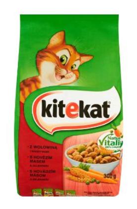 Karma dla kota KITEKAT Wołowina z warzywami 1,8kg