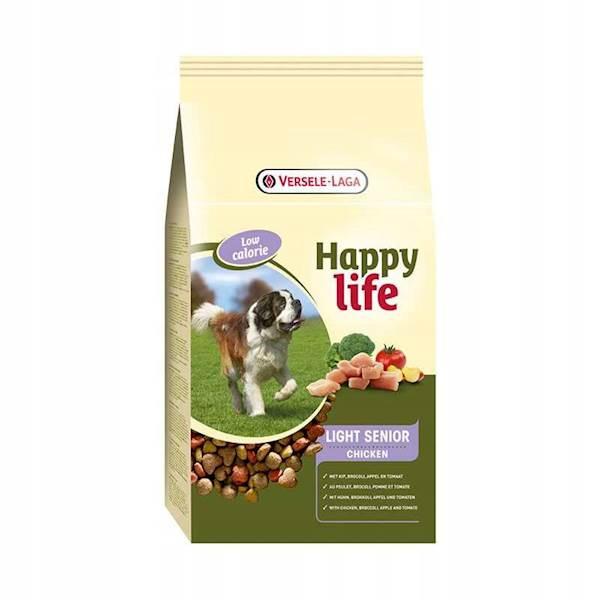 Karma dla psa Happy Life Light Senior z kurczakiem 3kg - dla psów starszych i/lub otyłych
