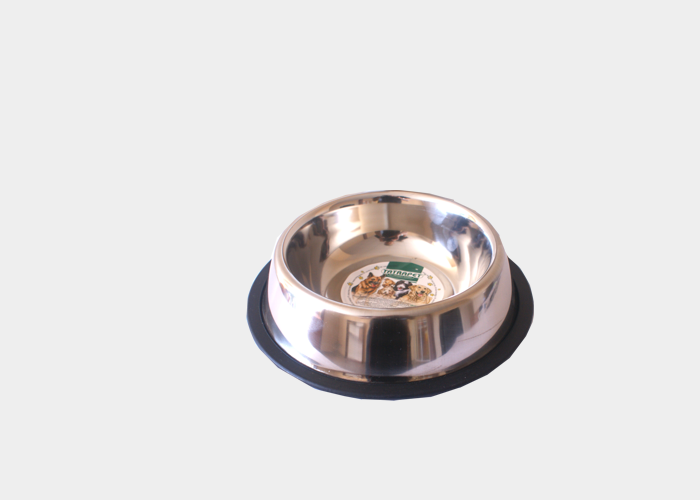 Miska 0,7l metalowa z gumową podkładką
