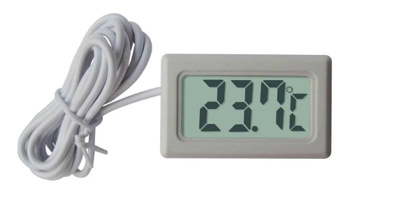 Panelowy termometr LCD od -50°C do 100° C biały