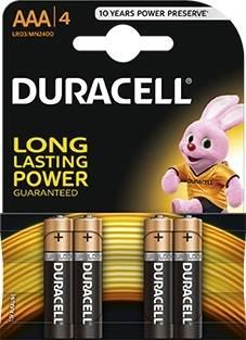 Baterie alkaliczne Duracell Duralock LR03 AAA 4szt
