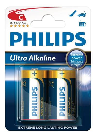 Bateria LR14  Philips ultra alkaline