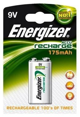 Akumulator 6F22  Energizer 175mAh NI-MH 9V