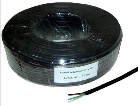 Kabel telefoniczny 4c czarny