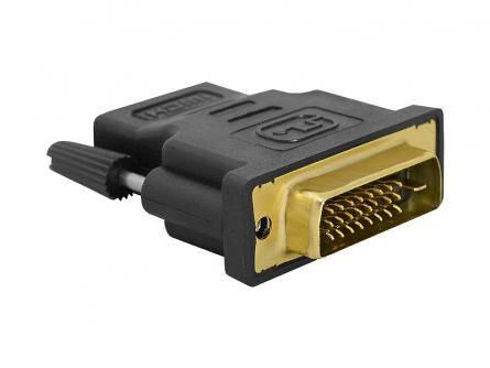 Adapter HDMI Gniazdo - DVI wtyk 18+1