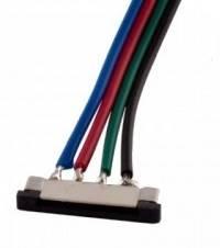 Złącze taśmy LED RGB 10mm z przewodami