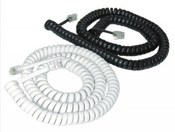 Kabel telefoniczny 15 m wtyk - wtyk biały