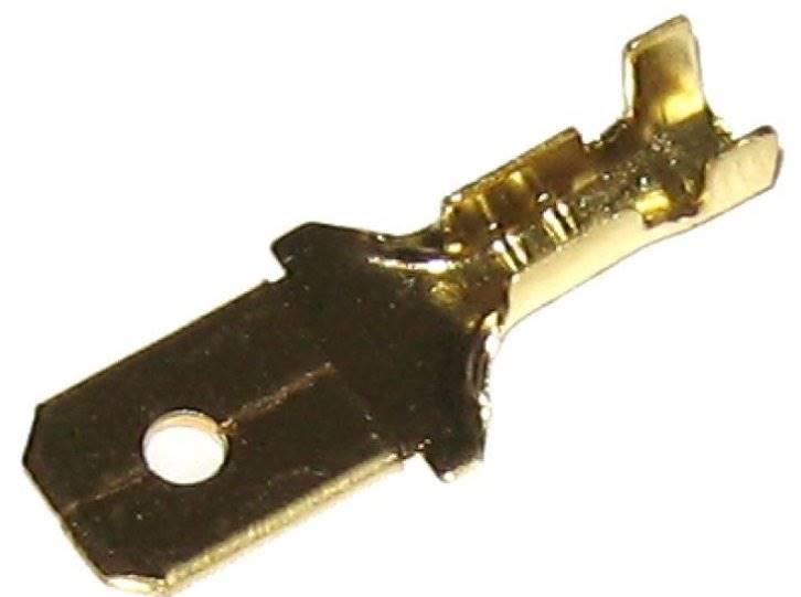 Konektor 6,3mm złoty męski duży