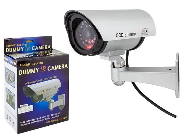 Atrapa kamery IR LED srebrna