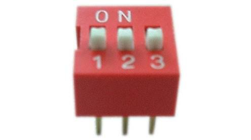 DIP switch 3 polowy czerwony