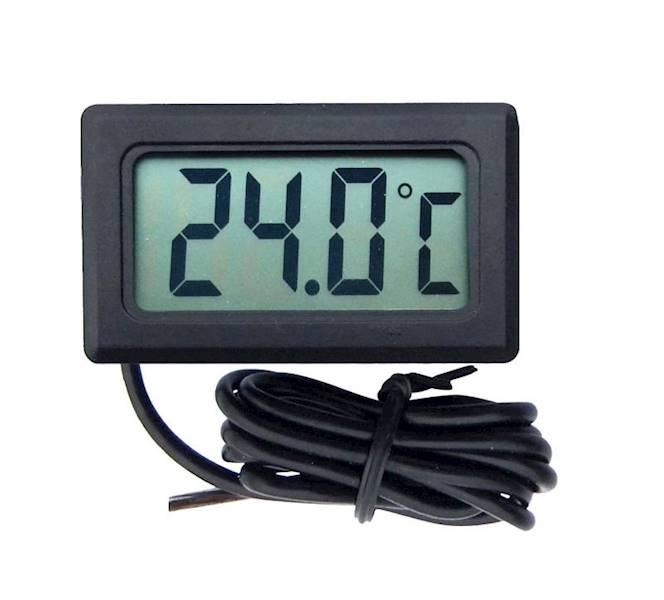 Panelowy termometr LCD od -50°C do 100°C czarny