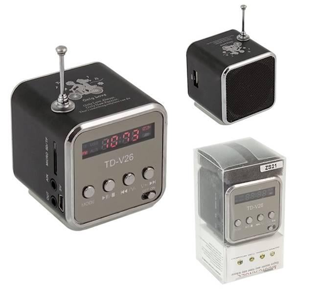 Mini głośnik radio USB MP3 Megabass
