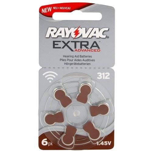 Bateria do aparatu słuchowego 312 6BL RAYOVAC