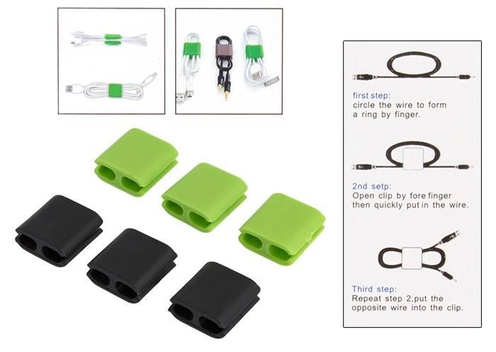Silikonowy organizer kabli