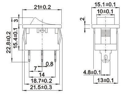 Przełącznik MRS102A-C3B 6A 250V