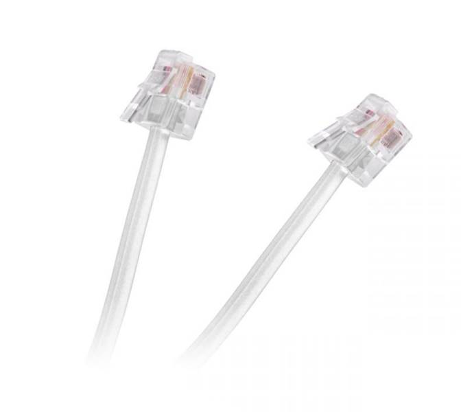 Kabel telefoniczny 4 m wtyk - wtyk biały