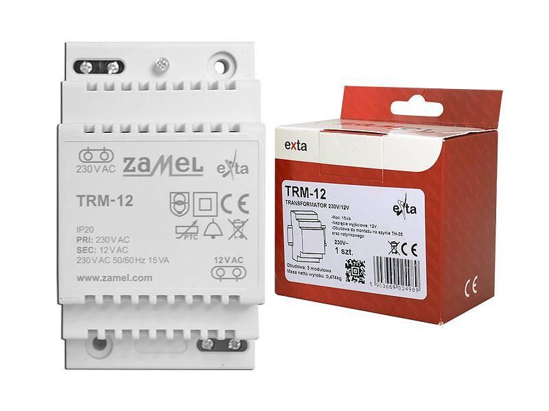 Transformator 230 / 12VAC 15VA  TRM-12 ZAMEL