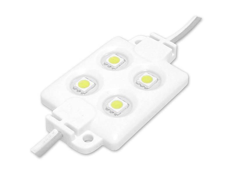 Moduł LED 5050 4diody biały zimny wodoodporny