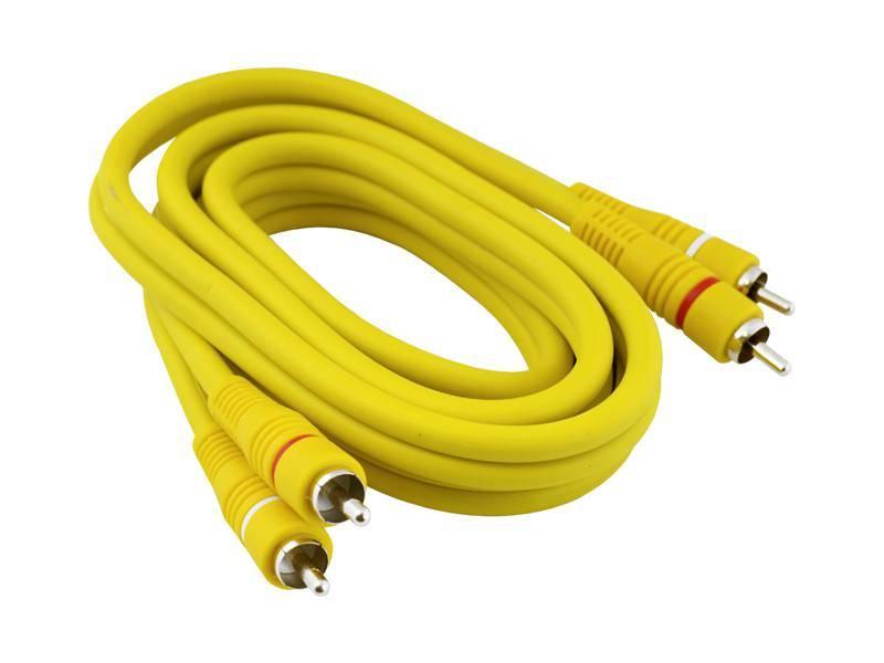 Kabel 2RCA wtyk - 2RCA wtyk 1.5m żółty