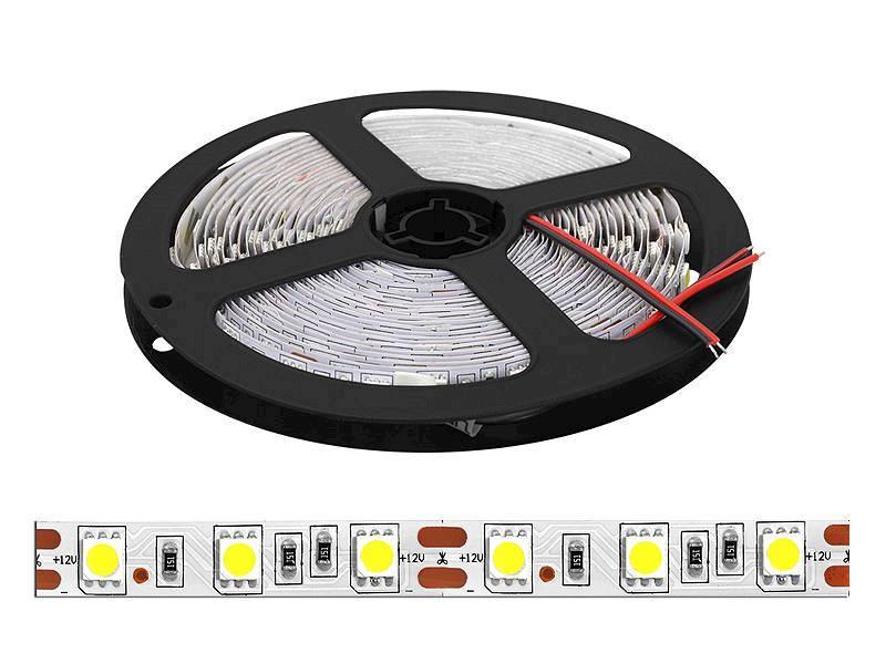 Taśma LED 5050 12V biały zimny 300 diód/5m