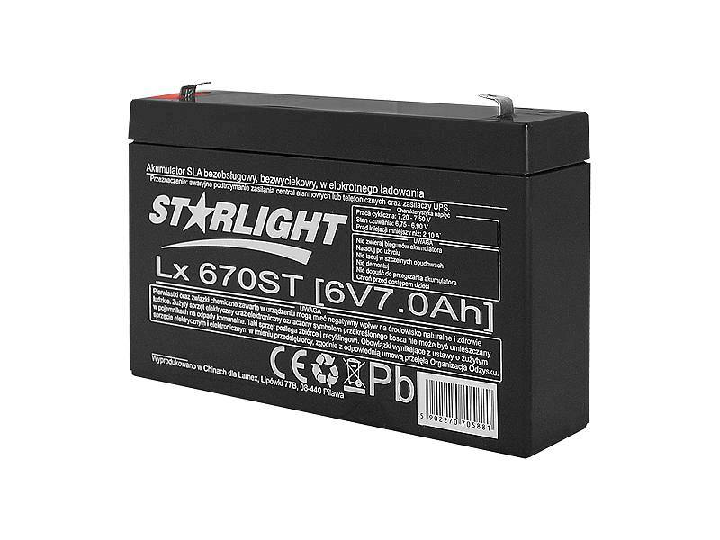 Akumulator żelowy 6V 7Ah ST
