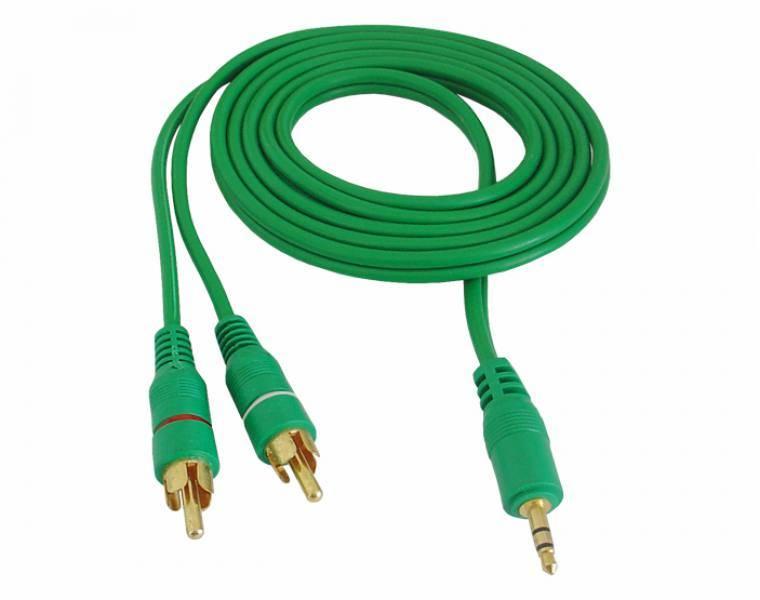 Kabel Jack 3,5mm wtyk - 2 x RCA 10m