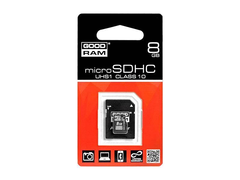 Karta micro SD 8GB class 10 UHS-1  GOODRAM