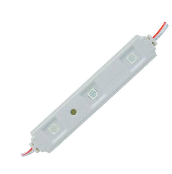 Moduł LED 5050 3diody niebieski wodoodporny