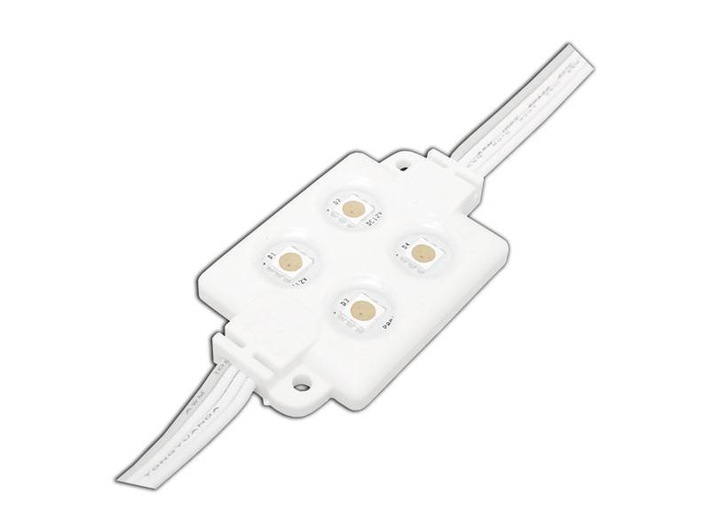 Moduł LED - 5050 4-diody RGB 12V wodoodporny
