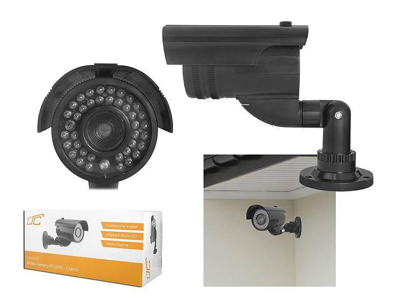 Atrapa kamery IR-2000 czarna