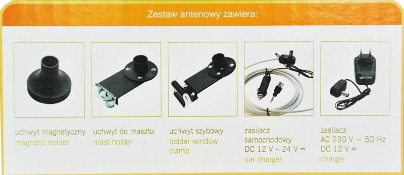 Antena TV dookólna Korona 21U/HP15
