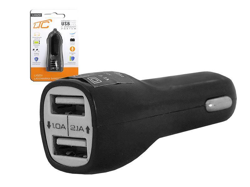 Ładowarka samochodowa dual USB 2.1A