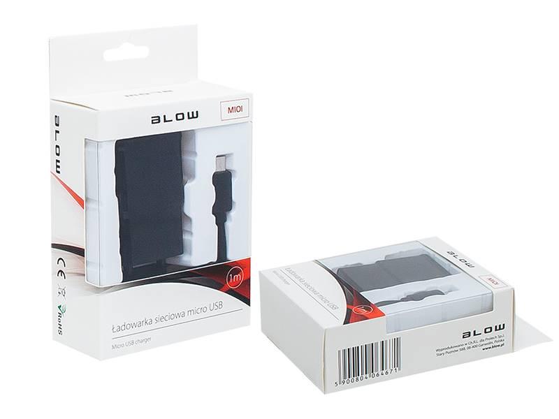 Ładowarka sieciowa USB 2,1A + kabel micro USB