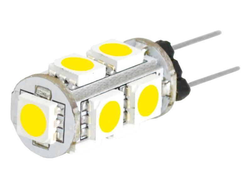 Żarówka 9 LED smd 5050 12V 1,8W G4 biały ciepły