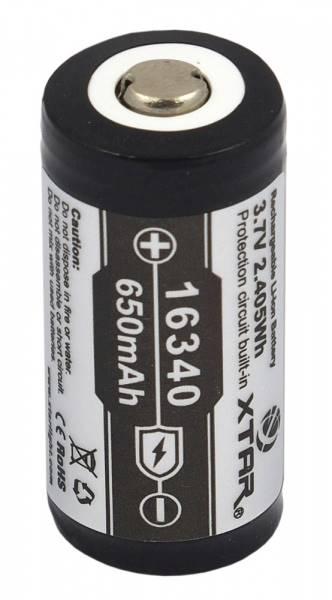 Akumulator z zabezpieczeniem  XTAR 16340 650mAh