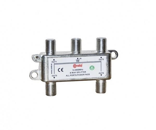 Rozgałęźnik spliter 5-2400MHz 4 WAY CORAB