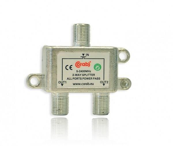 Rozgałęźnik spliter 2 WAY 5-2400MHz  CORAB