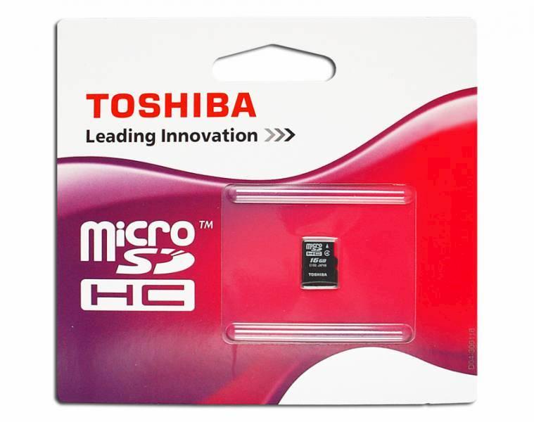 Karta micro SD SDHC 16GB TOSHIBA