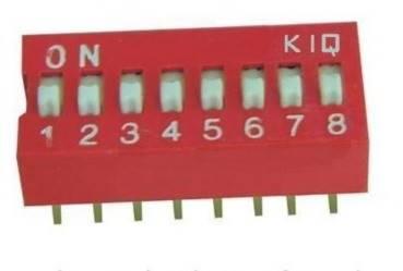 DIP Switch 8 polowy Czerwony