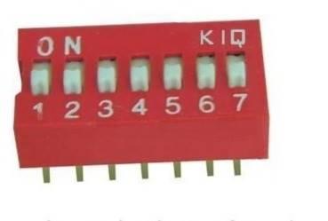 DIP Switch 7 polowy Czerwony