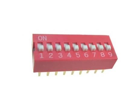 DIP Switch 9 polowy Czerwony