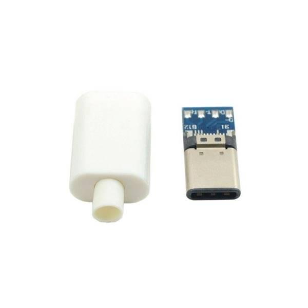Wtyk USB typ C 3.1  montowane na kabel