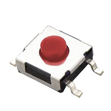Tact switch SMD 6x6 h=4.3mm  czerwony