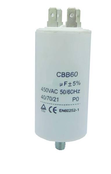 Kondensator silnikowy 100uF / 450VAC